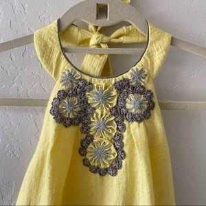 BCBG MAXAZRIA Yellow halter dress